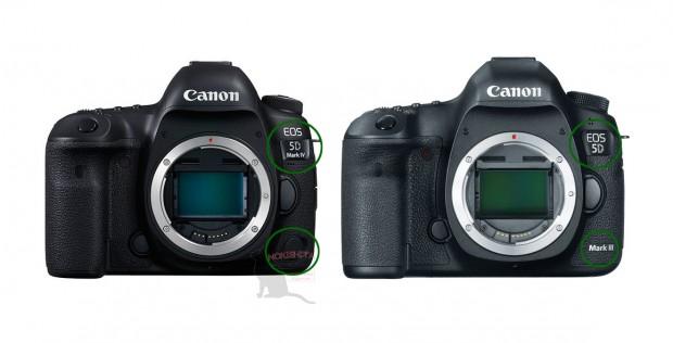Canon EOS 5D Mark IV has a new logo design.