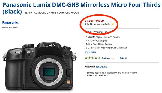 Panasonic-GH3-Listed-as-Discontinued
