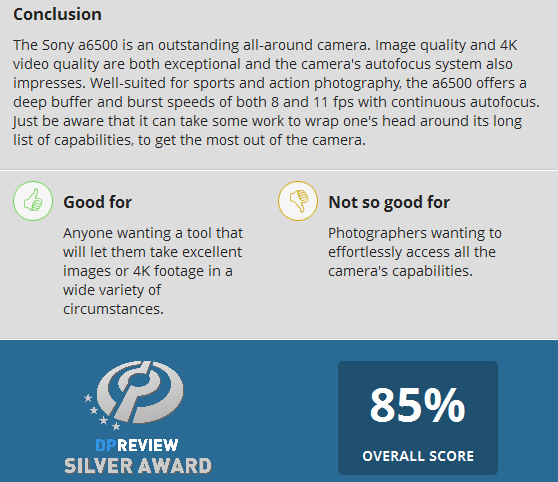sony-a6500-mirrorless-camera-gets-silver-award-at-dpreview