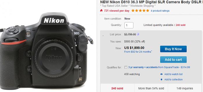 Gray-Market-Nikon-D810-Camera-Body-for-$1899