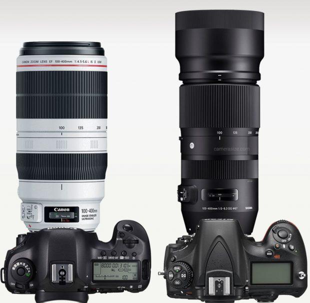 Size-comparison-Canon-EF-100-400mm-vs-Sigma-100-400mm