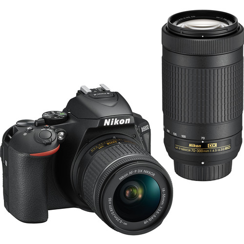 Nikon-D5600-with-18-55mm-and-70-300mm-Lenses